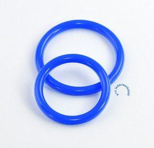 Blaue Cockringe aus Silikon